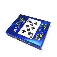 The whole network lowest waterproof print paper playing cards for sell