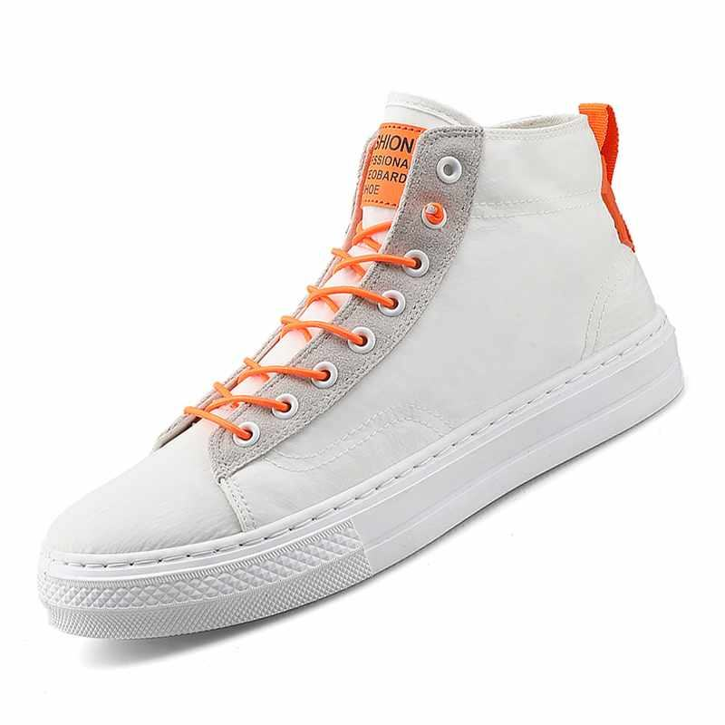 Latest White Canvas Shoes For Men High Top Canvas Casual Sneaker No Brand