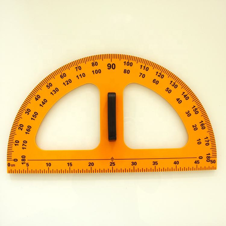 plastic whiteboard Protractor and BlackBoard Protractor