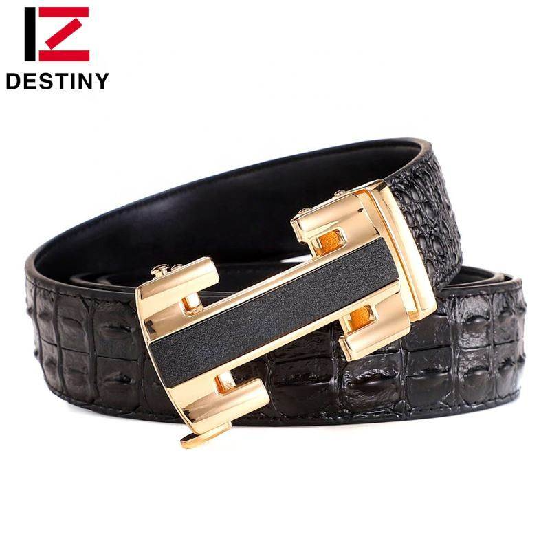 The latest Automatic buckle Black Fashion Designer Casual Crocodile Men Leather Belt