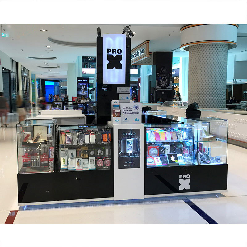 High-end Switzerland Jewelry Watch Shop Glass Jewelry Kiosk Showcase Jewellery Display Cabinet Kiosk