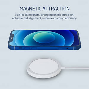 15W qi fast charger wireless mobile phone wireless charger Pad for airpods for iphone 12 magnetic magsafe wireless charger