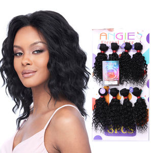 Women's Kinky Curly Hair Bundles 8Piece/lot Afro Jerry Curl Hair 1Pack Full Head Tangle Free Weave Sew in Hair Extensions