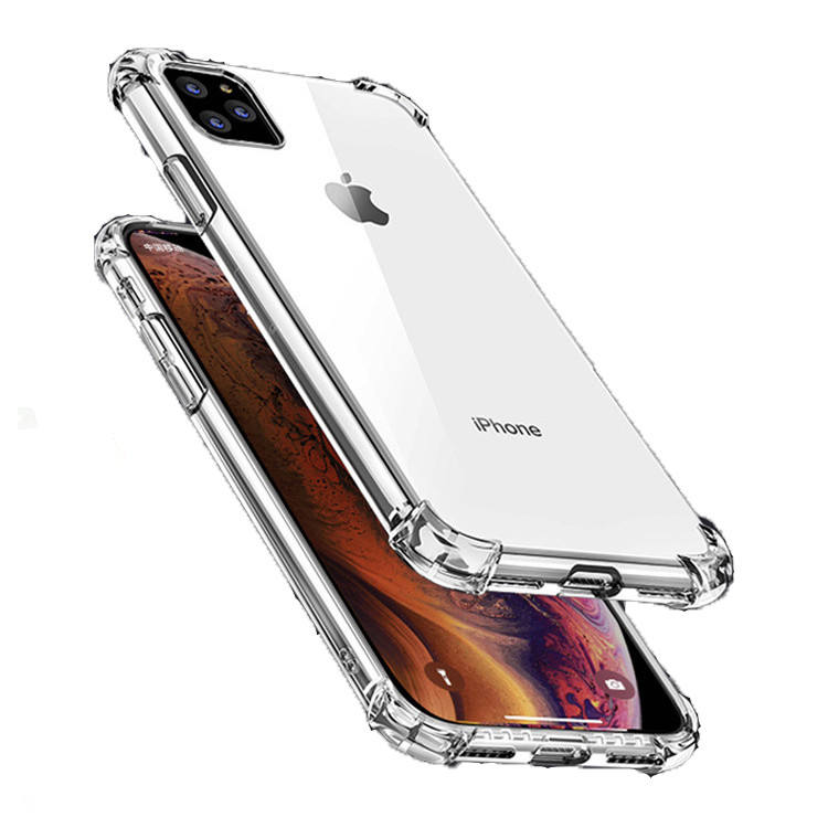 Reinforced Corner Air Cushion Shock Absorption Cover Crystal Transparent TPU Phone Cases For iPhone 11 12 Pro Max SE Clear Case