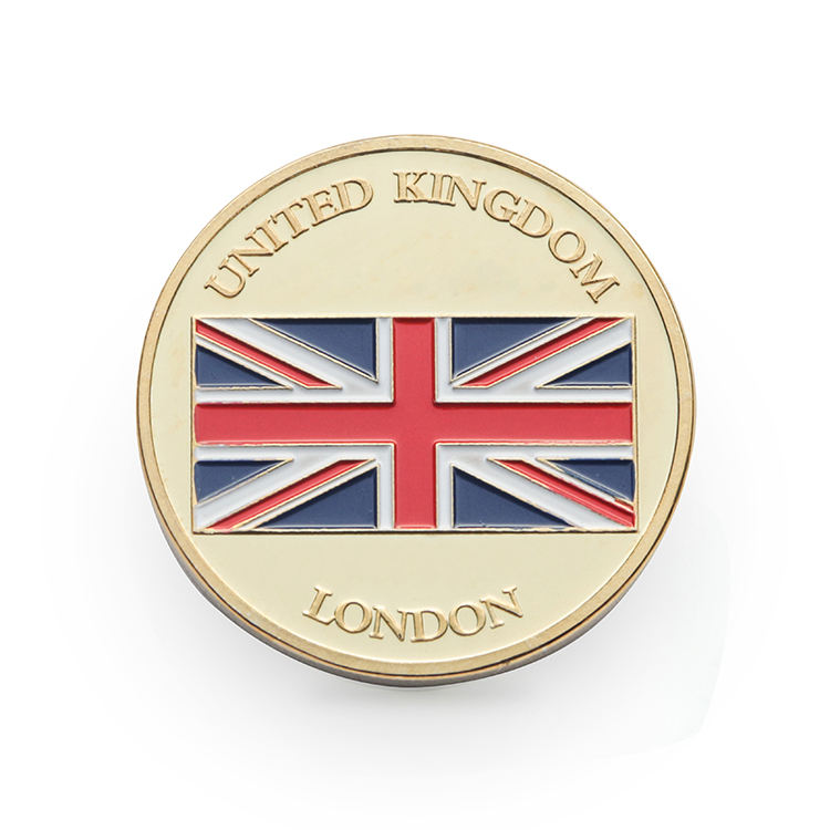 Souvenir Custom Logo London Portable Coins Uk Commemorative Gold And Silver Coin