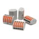 Grey and orange Fast connector push in wire connector quick splicing wire connector
