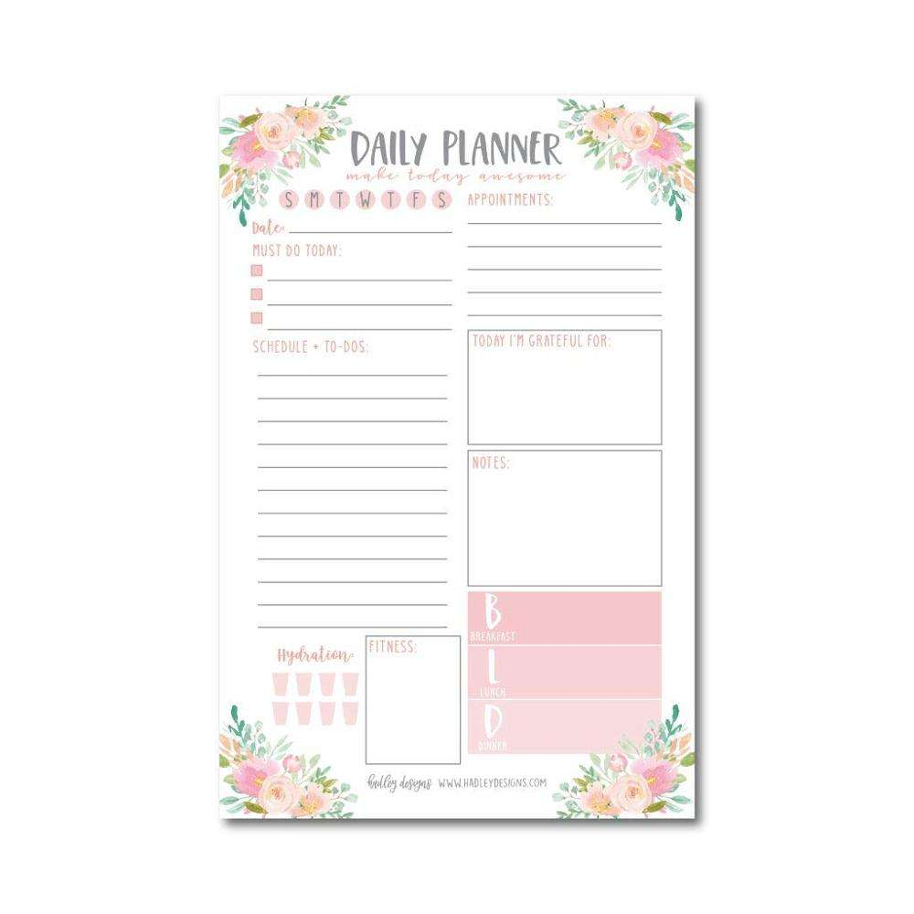 One-Stop Service Notepads Myway News 2020 Pink Floral Custom Logo To Do List Note Planner Notepads