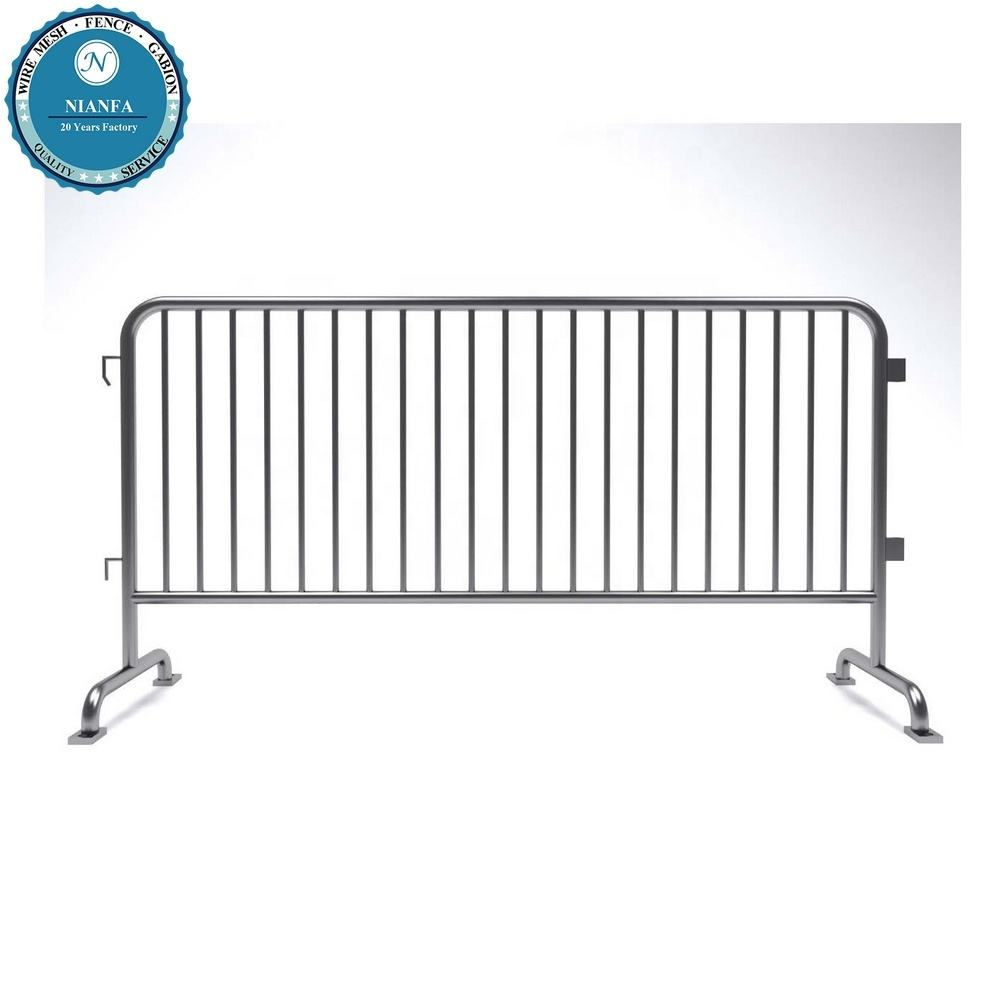 barricades fence manufacturer usa event fencing crowd road barrier/ 4ft fixed leg metal crowd control safety barrier