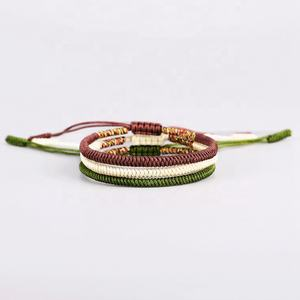 Hot sale Handmade Cheap Colorful String Cord Pull Bracelet