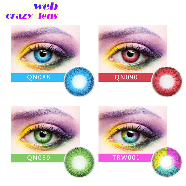 5 tone colored contact lens 4 tone color contact lens 3 tone brown color contact lens
