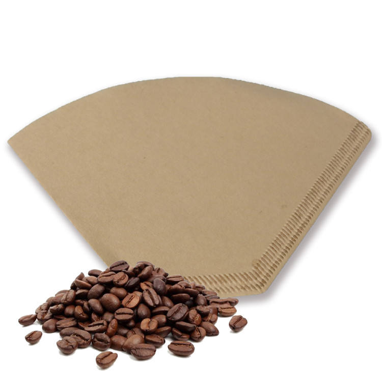 unbleached and environmentally friendly natural paper filters fit all 2-4 cup size cone style Coffee filter