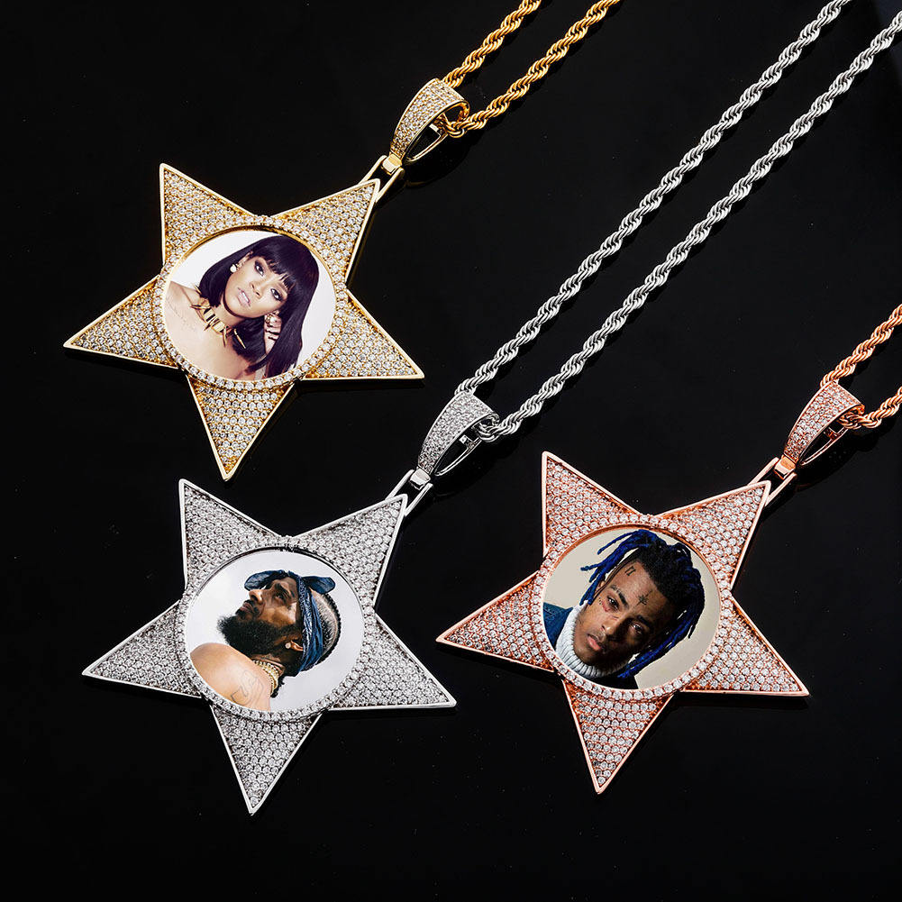 Conception personnalisée Populaire Collier <span class=keywords><strong>Photo</strong></span> pendentif <span class=keywords><strong>Photo</strong></span> Fait <span class=keywords><strong>Rihanna</strong></span> Style collier