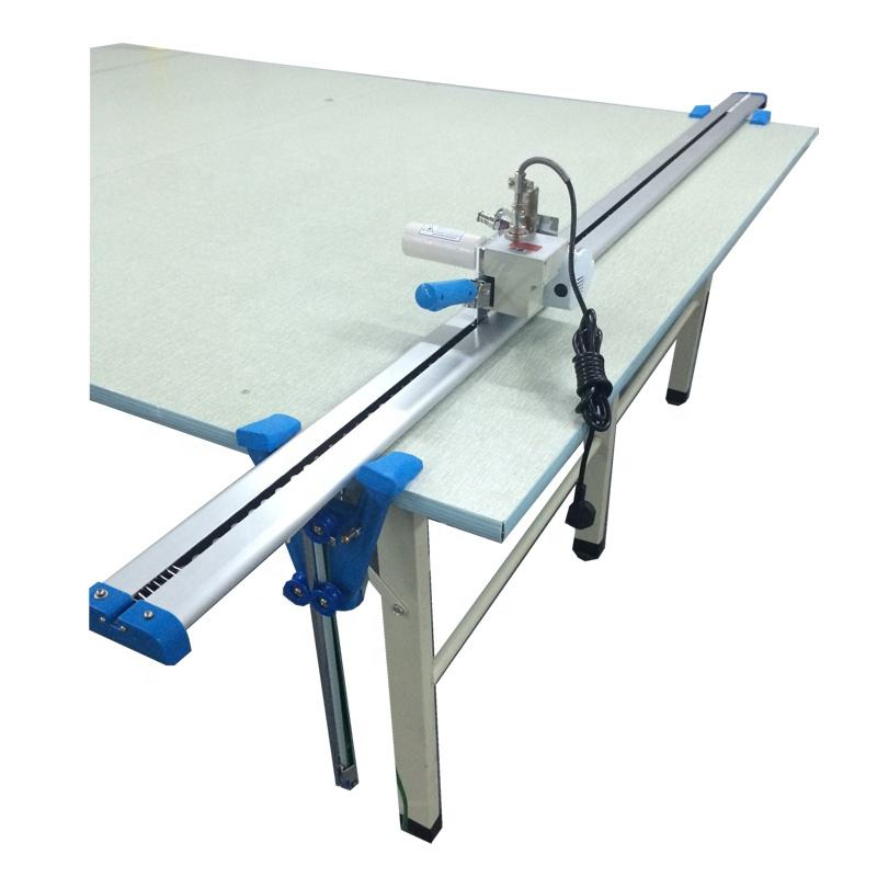 Installation support Electric Round Knife Cloth End edge Cutter Apparel Fabric Roller blinds End Cutting Table Machine