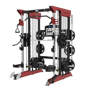 Commercial home fitness equipment multi function smith machine functional trainer