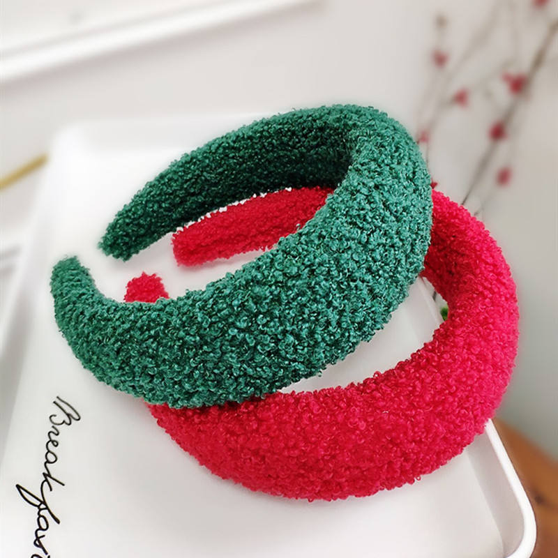 30pcs Plush Sponge Thick Velvet Headband for Women Hair Accessories Band Autumn Wide Simulation Pearls Headwear Padded Hairbands