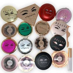 China Suppliers Makeup Private Label Custom Label Eye Glitter Acrylic Round Custom Lash Box