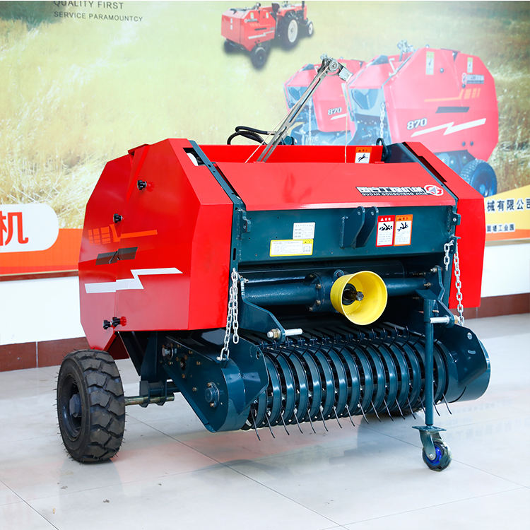 Hay and straw mini round hay baler machine atv small mini walking behind hydraulic hay baler machine for tractor