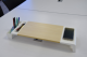 Desk organizer monitor stand with wireless and USB hub