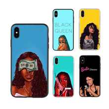Make money Black girl phone case Melanin Poppin Black Girl queen for iphone 11 case 6 6s 6SP 7 8 8S plus X XR XS max TPU cases