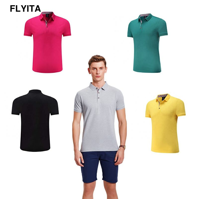 Flyita Sport Tee Shirt Breathable Quick Dry Golf Polo Shirts For Men