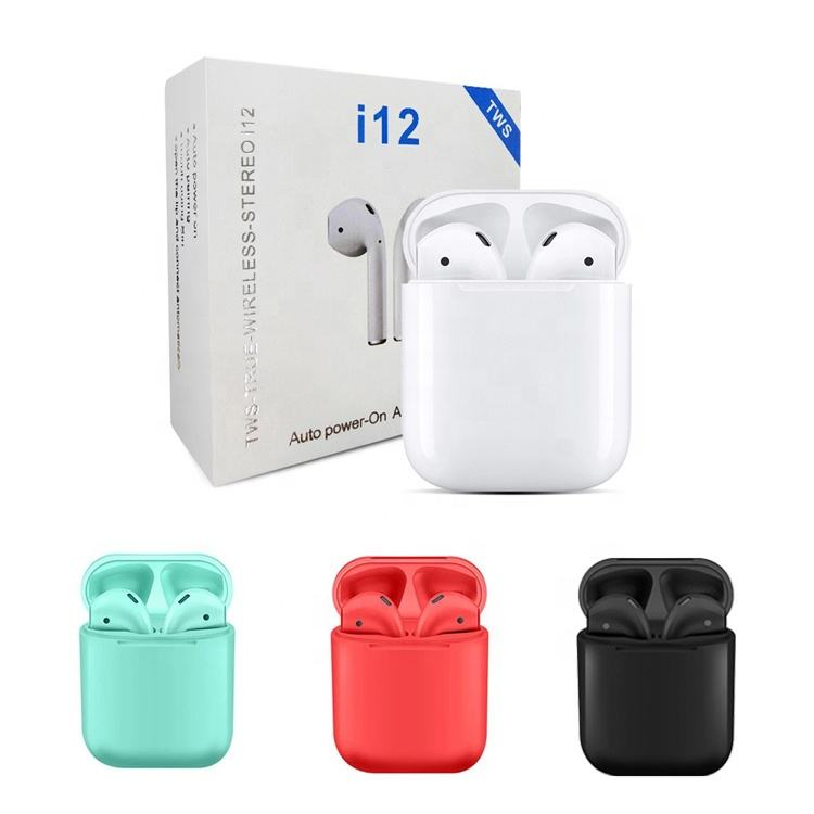 Amazon TWS 5.0 Wireless Earbuds i12 i12s Luxury Earphones Waterproof Sport Headphone Memory with Charger Box