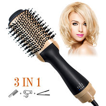 1200w LCD Professional Salon Negative Hot Air Brush,Ceramic Lightweight Hot Air Styling Brush Hair Dryer & Volumizer