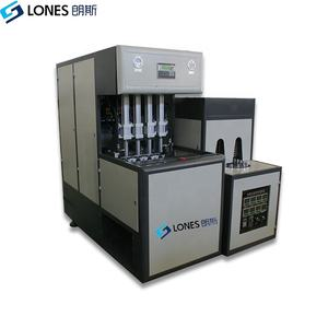 LS-B2L-4cavity 1600BPH 4cavity semi automatic small mineral water bottle making machine from china factory 500ML 750MLPET bottle