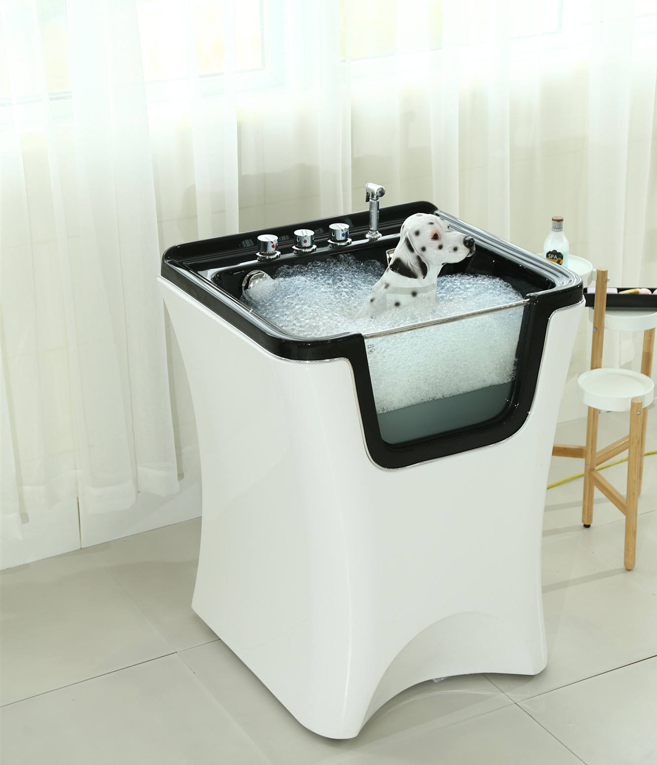 Manufacturing ozone dog hot tub/dog wash machine/dog shower,Bubble,Ozone,Led function