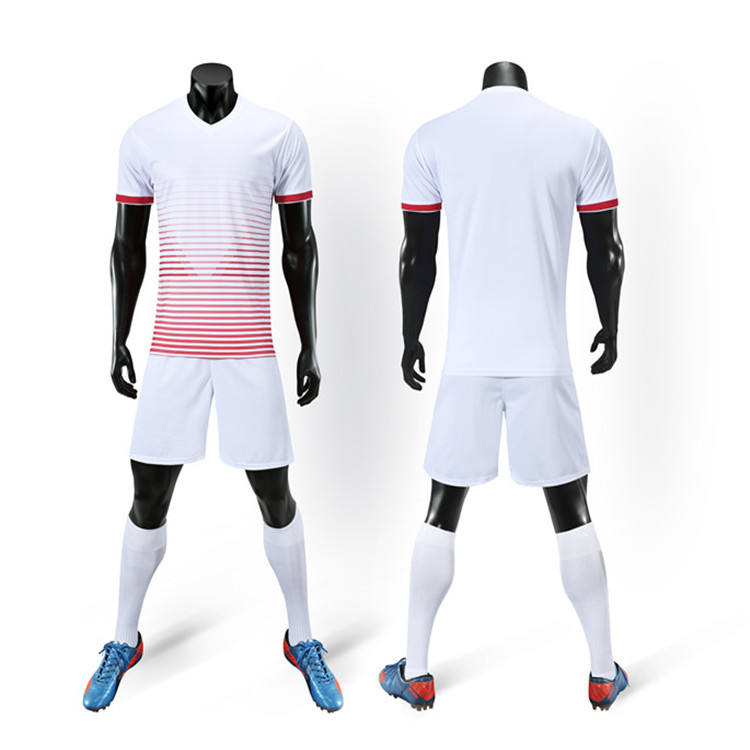 Wholesale blank logo custom kids adults training equipment football soccer team jersey uniform full set
