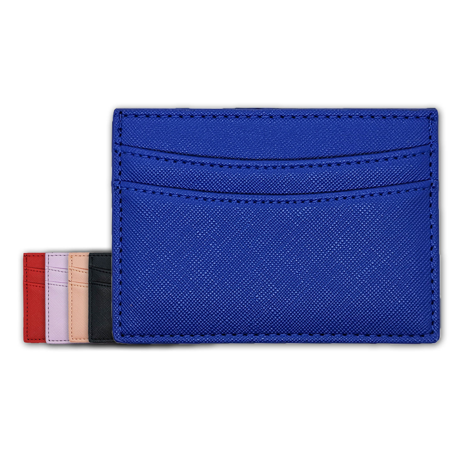 Colorful Saffiano Leather PU leather cardholder custom debossed or stamp logo Cross name card holder