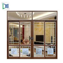 Foshan Window Aluminum Double Glazed Windows and Doors Sliding Window with Inside Grill Drawing Design
