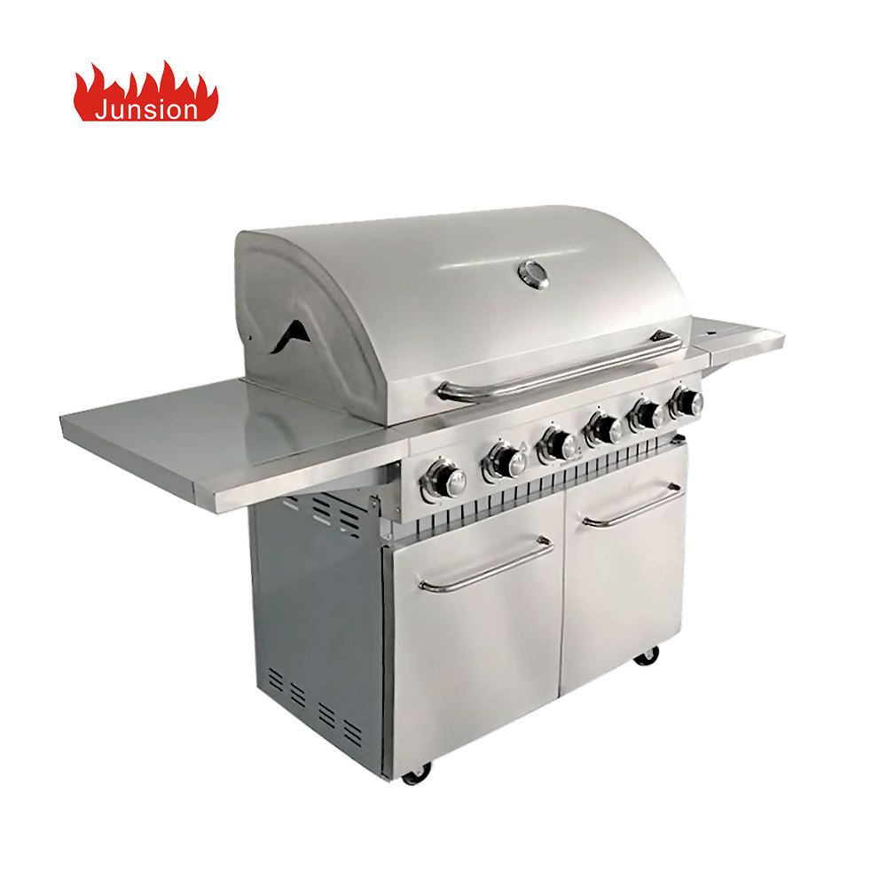 CE Certs Europe American Outdoor Smokeless Stainless Steel 6 Burners Gas Grill Gas Barbecue