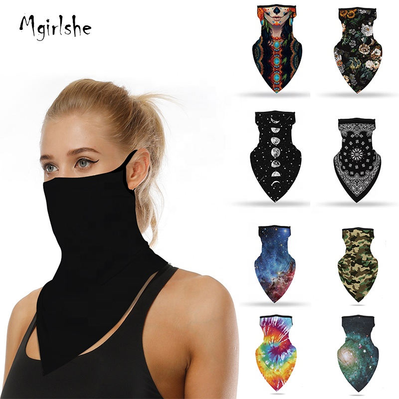 Mgirlshe 2020 Amazon Best Selling Custom Bandana Face Earloop Face Scarf Outdoor Cycling Wear Cool Tube American Flag Bandana