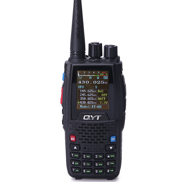 QYT KT-8R mini quad band 5W tela colorida walkie talkie VHF UHF portátil waki taki