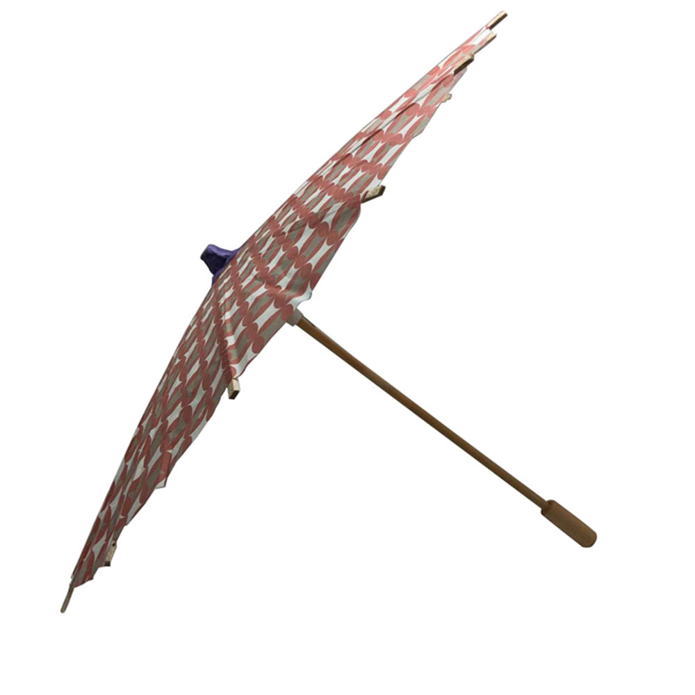 Paper crafts one piece novelty wood umbrella with as decoration