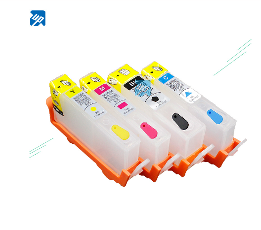 UP brand 5sets for HP 364 364 XL Refillable Ink Cartridges with chip for HP 5515 5524 6510 6250 7510 B8550 C5324 C5380 C6324