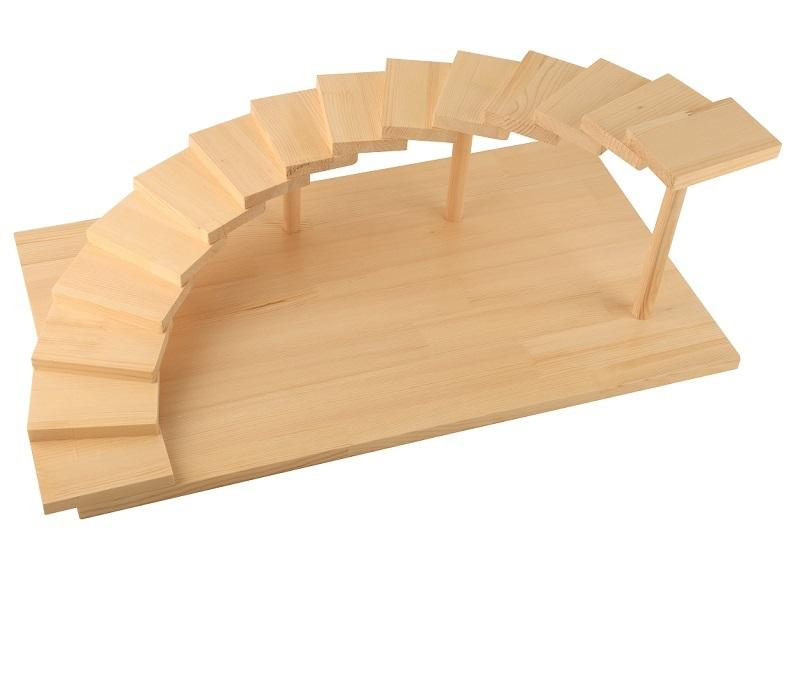 Wooden Sushi Tray Sashimi Sushi Serving Step Plate for Japanese Food Restaurant