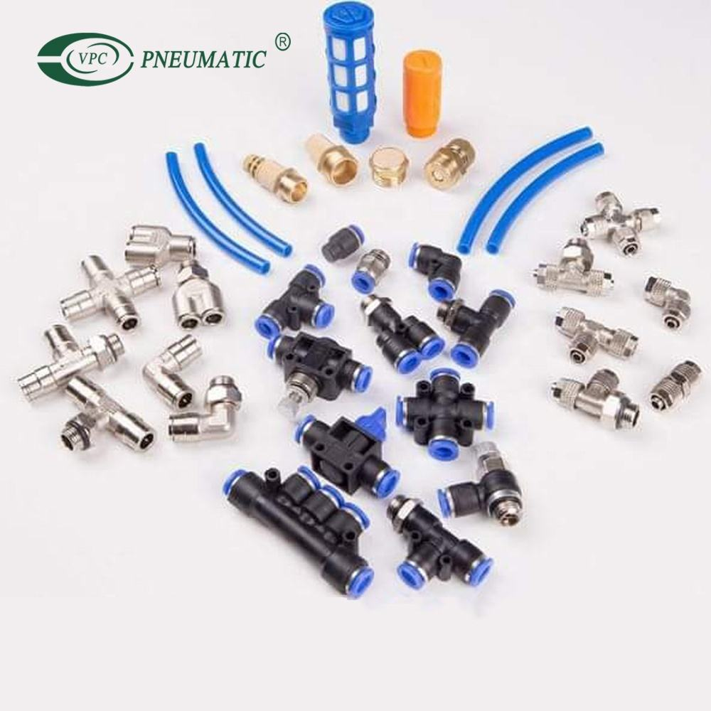 Plastic Push to Connect tubes Pneumatic Air Male Female Fittings