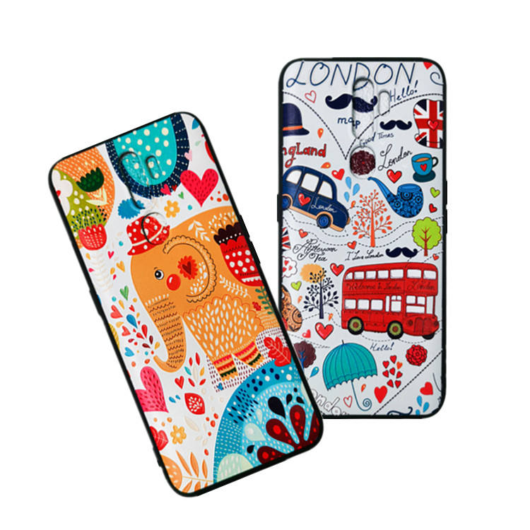 Phone case 3D Relief soft tpu case shockproof mobile pohne case For iphone 11