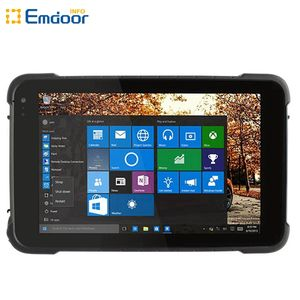 Emdoor Waterproof 8 Inch IPS Windows 10 7800Mah Ip67 Industrial China Rugged Tablet Pc