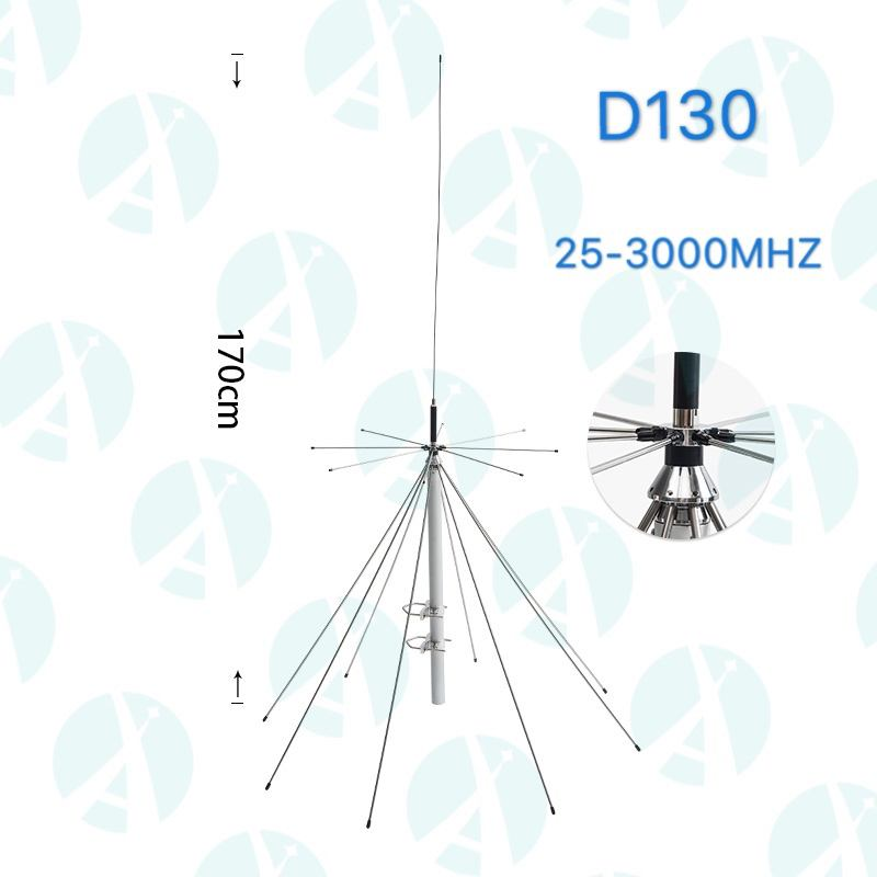 (25-1300 MHz) Discone Broad Band Base Antenna