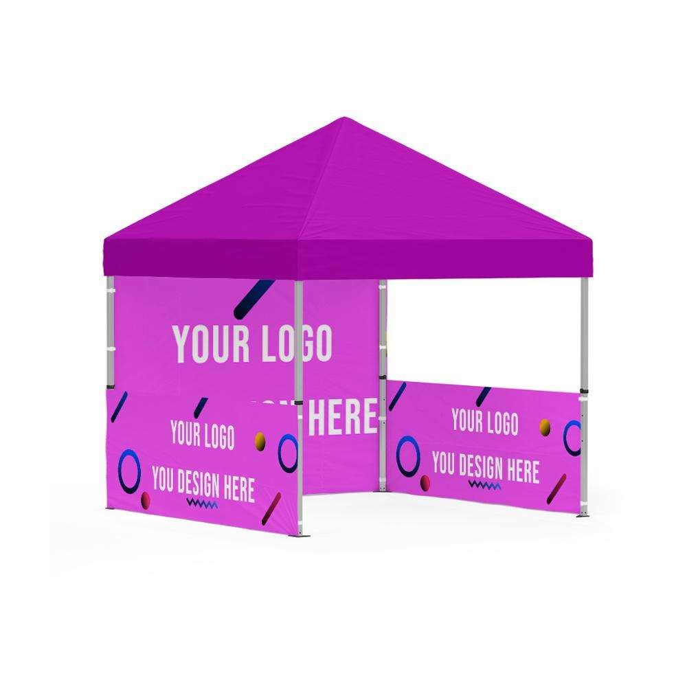 Customized design aluminum trade display free assembly plastic joints 10x10 pop up tent