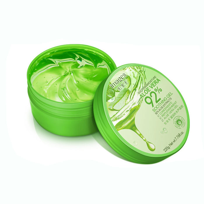 GMP Images after sun forever moisturizes tender skin aloe vera gel for face care