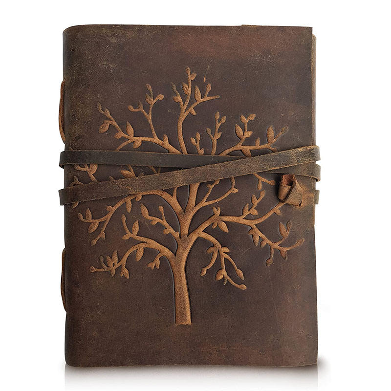 Leather Journal Tree of Life Writing Notebook Handmade Leather Bound Daily Notepads Travel Diary and Journals to Write in