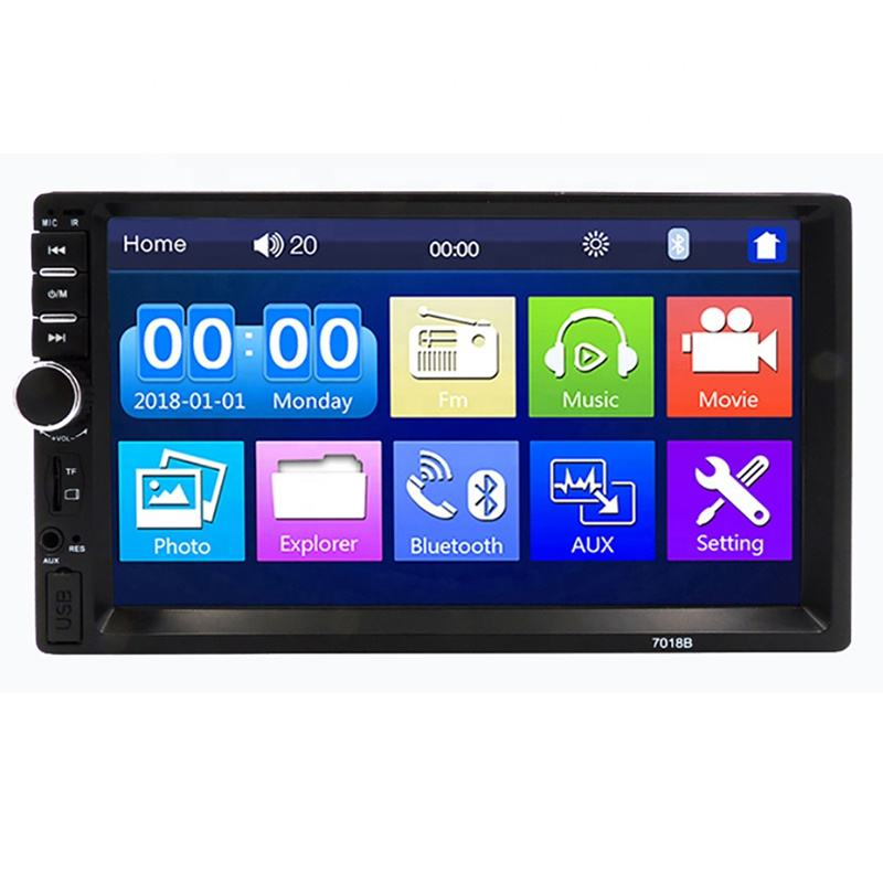 "7inch Universal Car mp5 Player Radio 7018B Auto TF Card/ USB Mp3 Video Player 7"" Car Full Touch Double Din Low Price Manufacture"