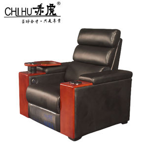 Exquisite workmanship home recliner sofa black leather reclining sofa cinema sofa armchair
