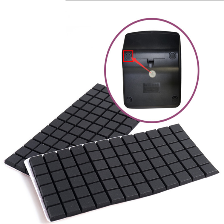 custom die cut anti slip black clear 3m double sided adhesive tape bumper washer feet pad dot gasket silicone rubber