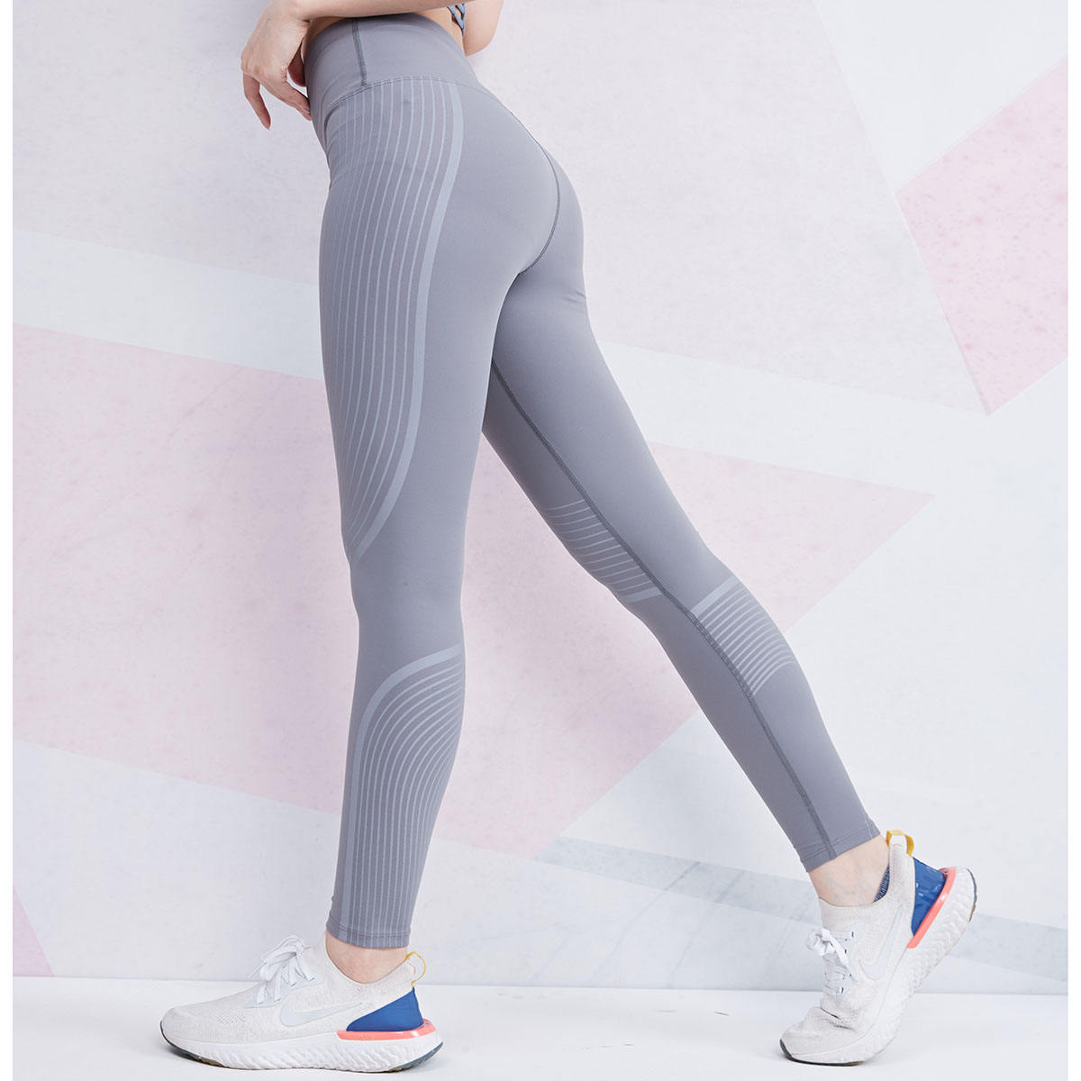 Wholesale Compression Tights Sports Leggings Fitness Nylon GYM Leggins Workout Running Jogging High Waist Womens Skinny Pants