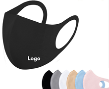 Wholesale Disposal Custom logo fashion Design Reusable Black Fashion Cotton customized logo Face Mask with custom logo