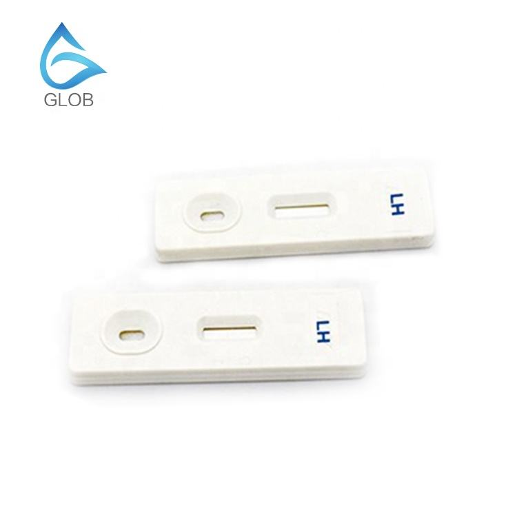 Glob Biotech One step free Ovulation LH Urine Test Cassette for Women Use OEM factory